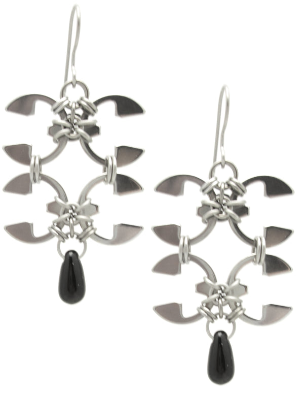 Wisteria Section Earrings (Industrial Glass Collection)