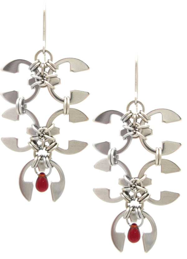 Wisteria Blossom Earrings (Industrial Glass Collection)