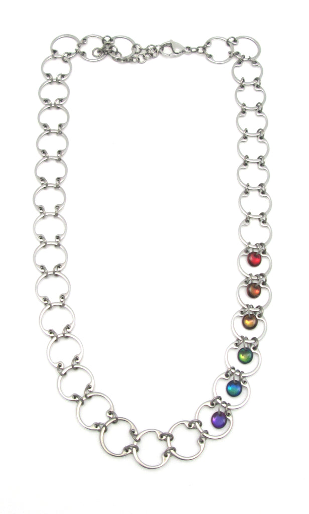 Baseline Rainbow Necklace (Industrial Glass Collection)