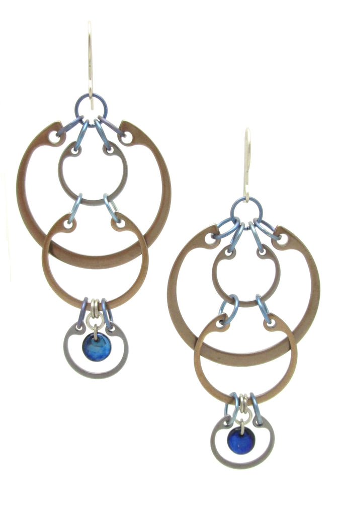 Cascading Circles Earrings (Large) (Industrial Glass Collection)