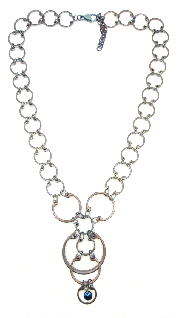 Cascading Circles Necklace (Industrial Glass Collection)