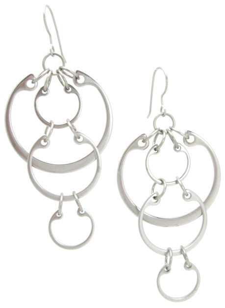 Cascading Circles Earrings (Large)
