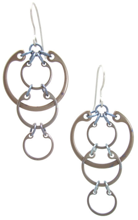 Cascading Circles Earrings (Medium) (Heat Patina Collection)