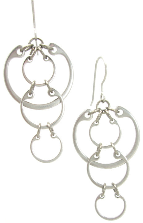 Cascading Circles Earrings (Medium)