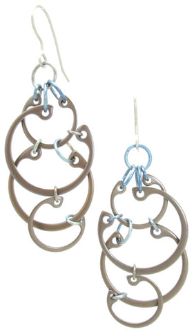 Clustered Circles Earrings (Large) (Heat Patina Collection)