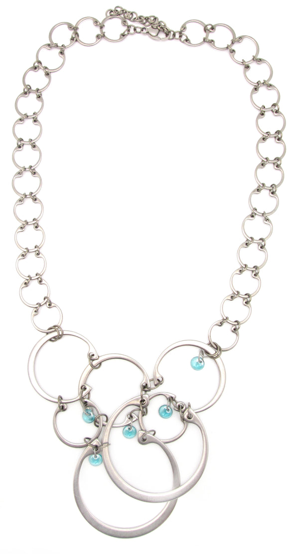 Clustered Circles Necklace (Industrial Glass Collection)