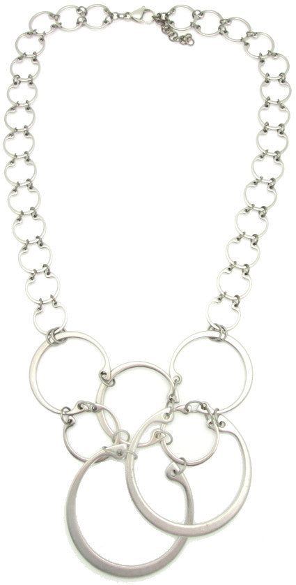 Clustered Circles Necklace