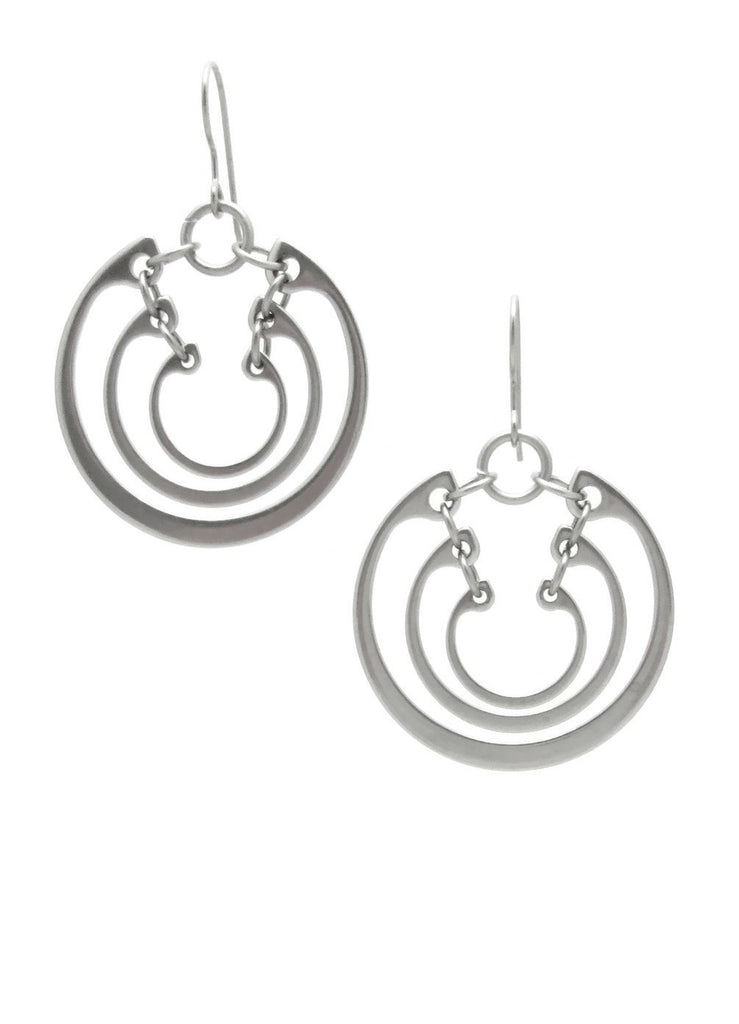 Concentric Ring Earrings (Large)