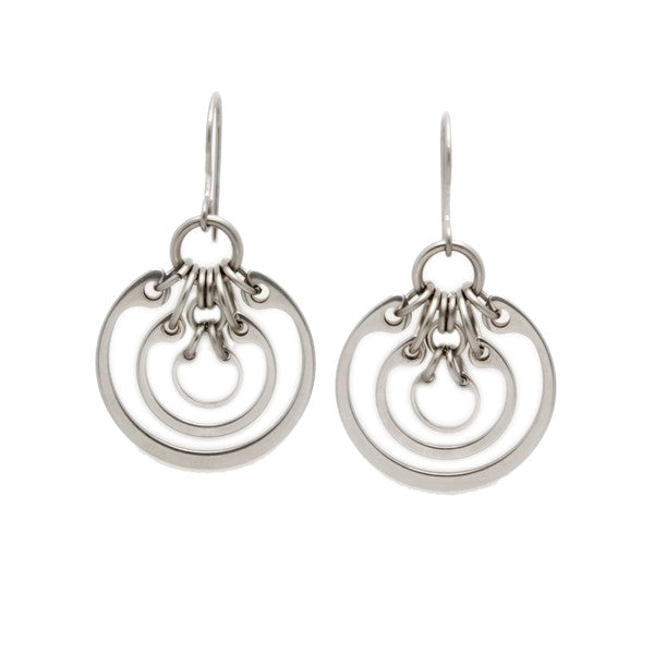 Concentric Ring Earrings (Small)