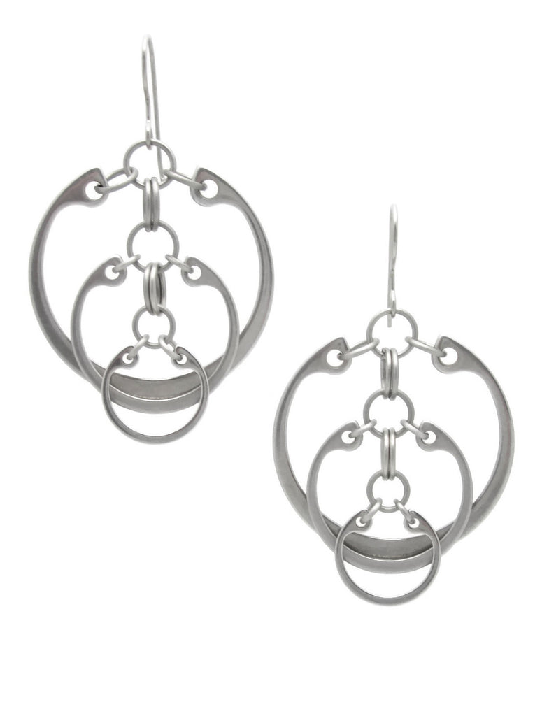 Descending Circles Earrings (Large)