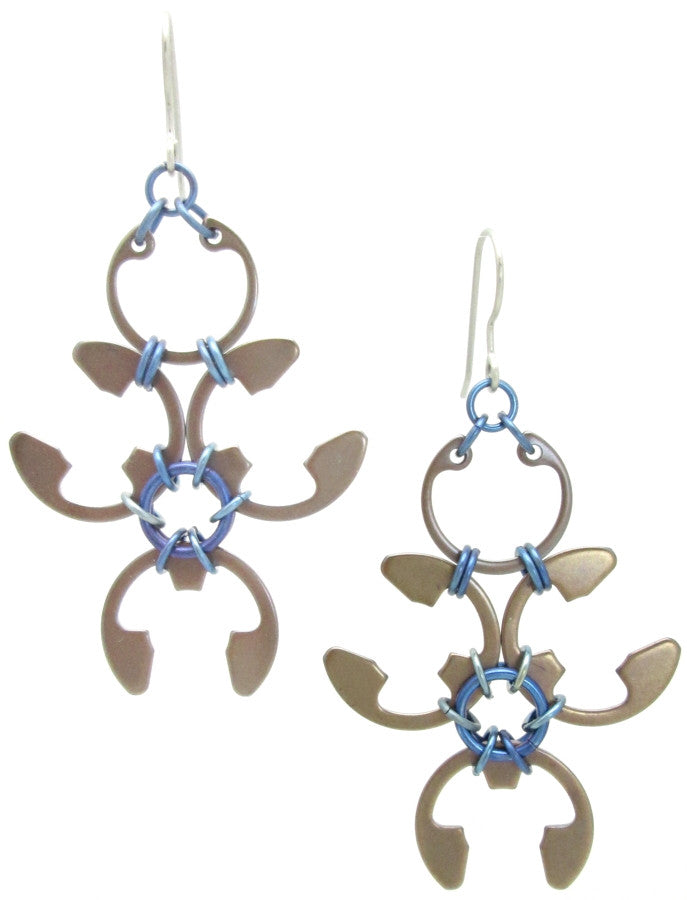 Garland Earrings (Heat Patina Collection)
