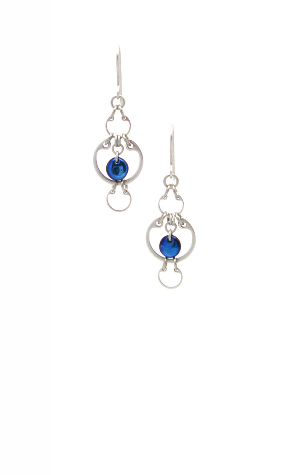 Alternating Earrings (Small) (Industrial Glass Collection)
