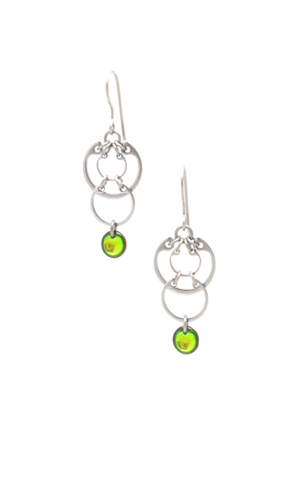 Cascading Circles Earrings (Small) (Industrial Glass Collection)