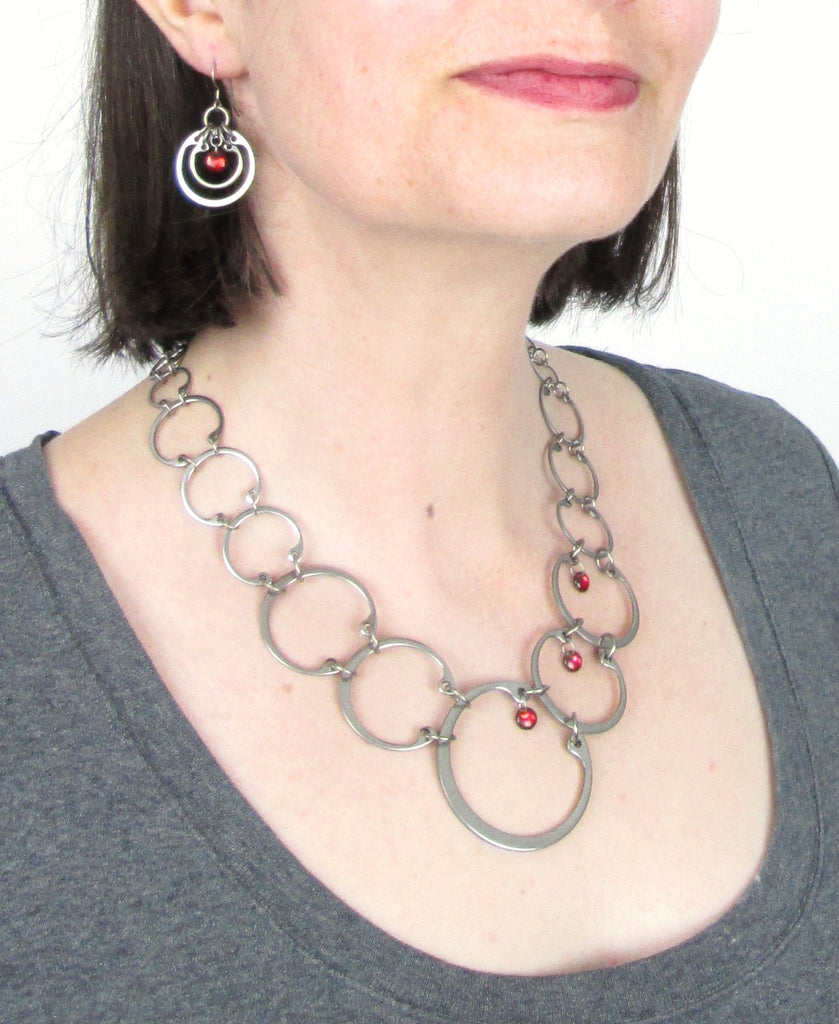 Graduated Necklace (Industrial Glass Collection)