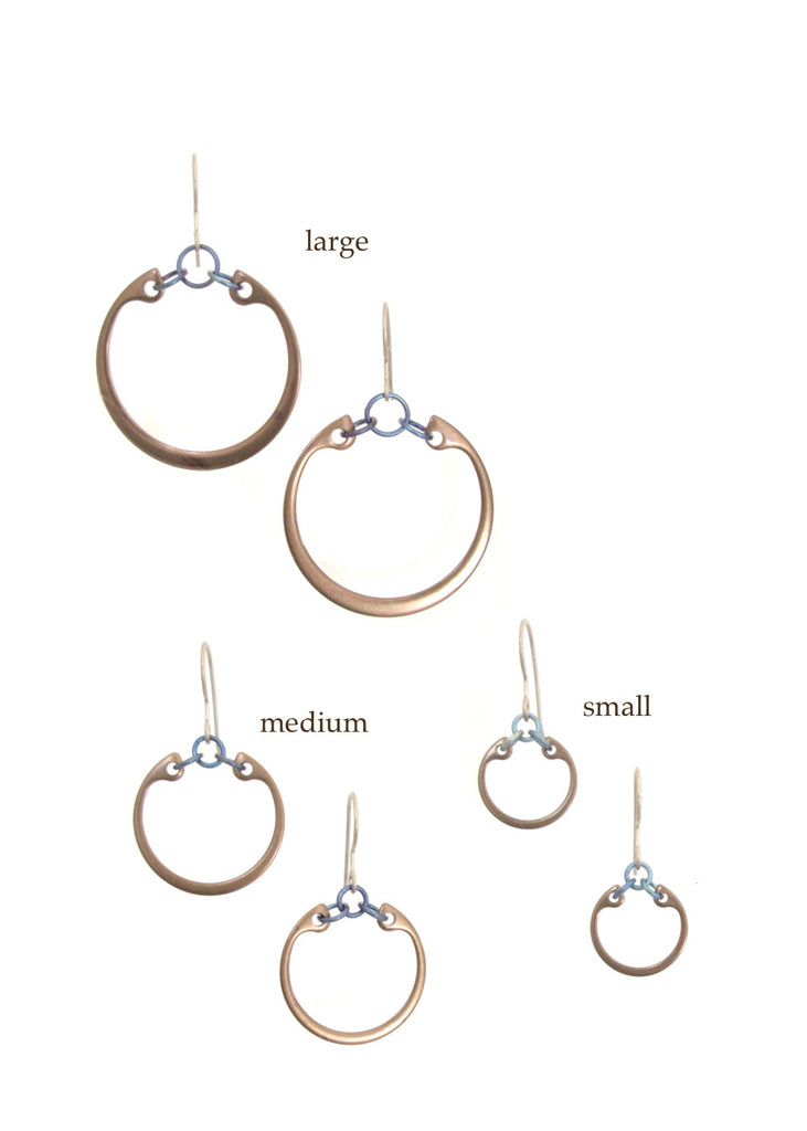 Minimalist Earrings (Medium) (Heat Patina Collection)
