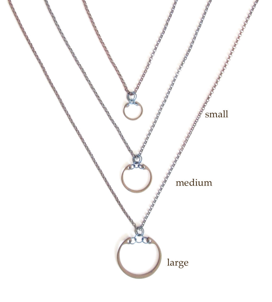 Minimalist Pendant (Medium) (Heat Patina Collection)