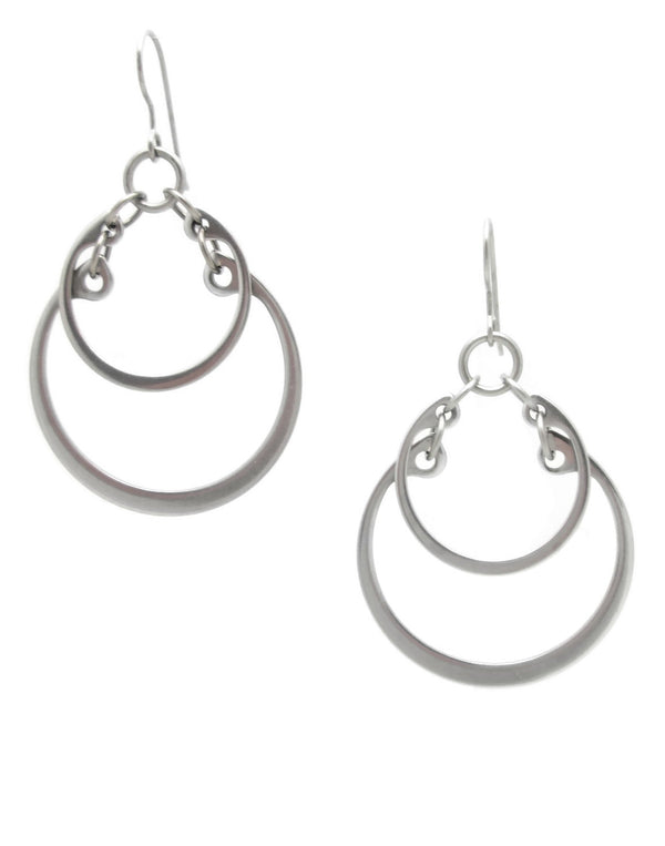 Overlapping Graduated Earrings