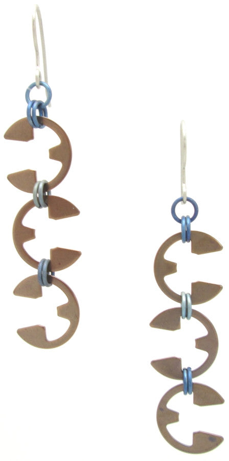 Vine Earrings (Heat Patina Collection)