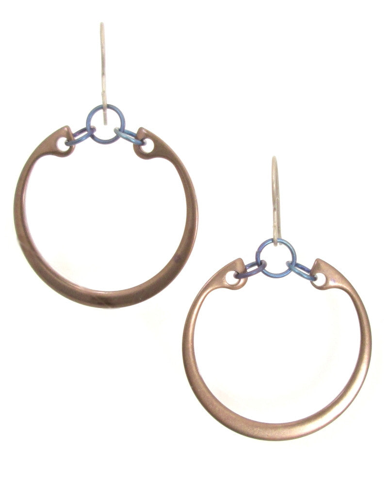 Minimalist Earrings (Large) (Heat Patina Collection)