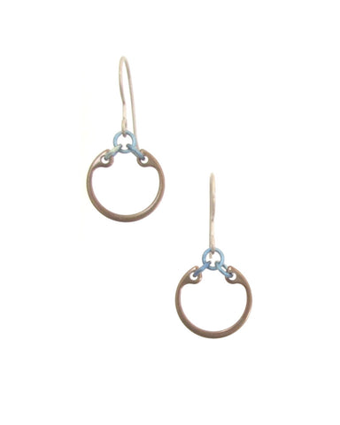 Minimalist Earrings (Small) (Heat Patina Collection)