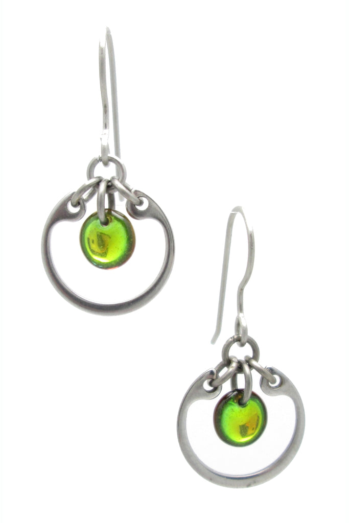 Circle Earrings (Small) (Industrial Glass Collection)