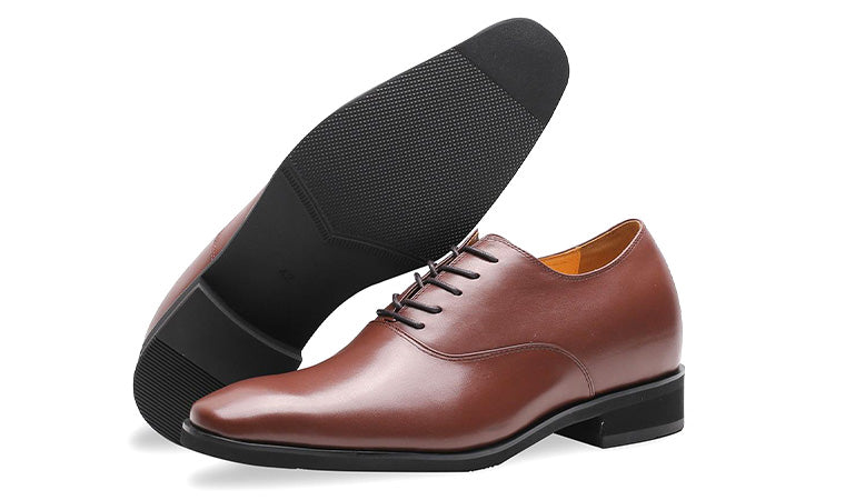 Mr. Webern Brown 7cm | 2.8 inches Taller Brown Mens Oxford Shoes