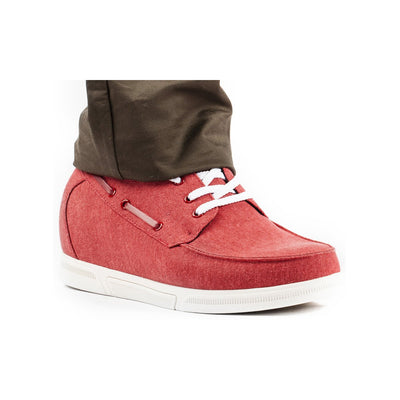 Mr. Barnden 7cm | 2.8 inches Taller Red Casual Height Shoes
