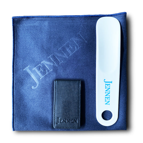 Care Package: Money Clip, Shoehorn, Microfibre Cloth