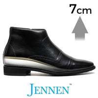 Mr. Allegro 7cm | 2.8 inches Taller Black Business Elevator Boots