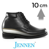 Mr. Baron Black 10cm  4 inches Taller Black Hidden Lifts Boots