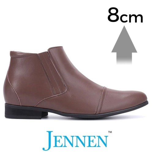Mr. Ferras Brown 8cm 3.2 inches Taller Business Designer Boots