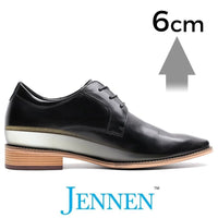 Mr. Handel 6cm 2.4 inches Taller Black Mens Business Shoes