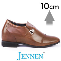 Mr. Janacek Brown 10cm 4 inches Taller High Raised Australian Shoes
