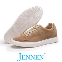 Mr. Lee Beige 6cm | 2.4 inches Taller Casual Heels Shoes for Men