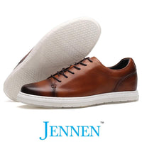 Mr. Menuhin Brown 5cm | 2 inches Taller Elevated Casual Sneakers