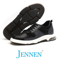 Mr. Muggleton Black 6cm | 2.4 inches Taller Casual Heels Shoes for Men