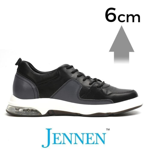 Mr. Muggleton Black 6cm | 2.4 inches Taller Heeled Men Gym Shoes