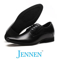Mr. Parkinson Black 8cm | 3.2 inches Taller Groom Shoes