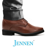 Mr. Rachmaninoff Brown 10cm | 4 inches Taller Concealed High Heels Shoe for Men