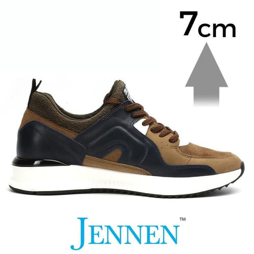 Mr. Regan Khaki 7cm | 2.8 inches Taller Gym Shoes For Men with Height