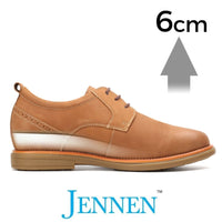 Mr. Sculthorpe Brown 6cm 2.4 inches Dress JENNEN Shoes For Men
