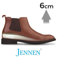 Mr. Tahnee Tan 6cm 2.4 inches Taller Hidden Heightening Boots
