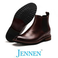 Mr. Tognetti Brown 7cm | 2.8 inches Taller Slip On Elevator Boots