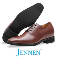 Mr. Webern 7cm | 2.8 inches Taller Brown Wedding Shoes for Men