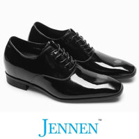 Mr. Webern Patent 7cm 2.8 inches Taller Patent Shiny Business Shoes