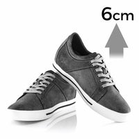 Mr. Bach 6cm | 2.4 inches Taller Casual Elevator Skate Shoes
