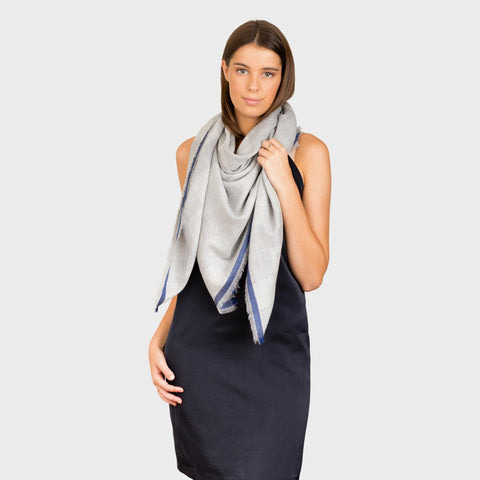 CHESS SUPERFINE WOVEN SCARF PURE CASHMERE