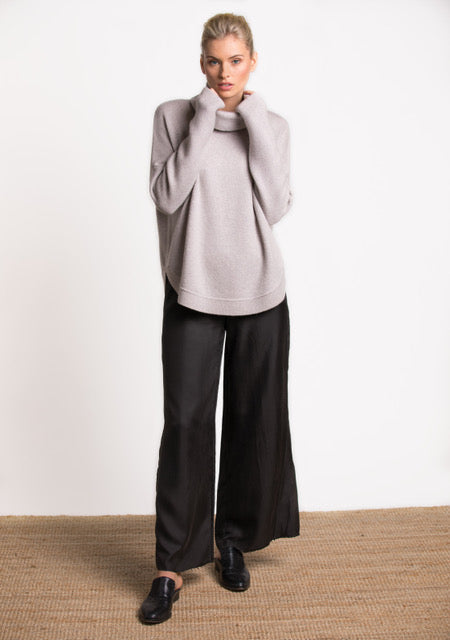 Tora Rolled Turtle Neck - Cotton Cashmere