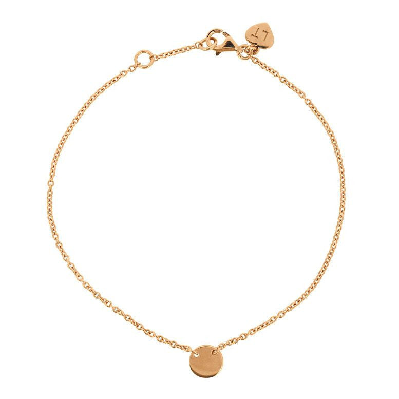 Stylish Little Disc Bracelet - Rose Gold Plated Sterling Silver