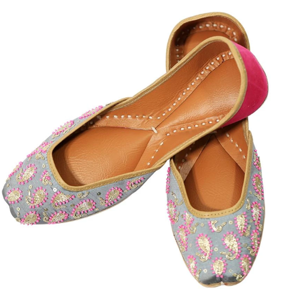Rainbow Leather Flats